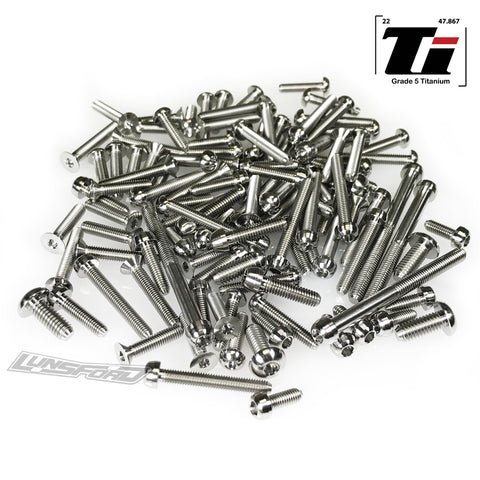 Titanium Screw Top Kit for Hot Bodies D819 (106pcs)