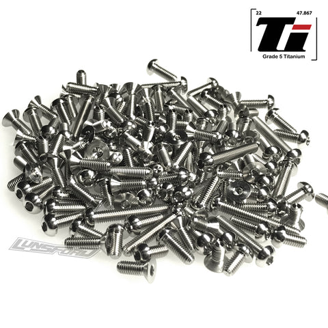 Titanium Screw Complete Kit for XRay NT1 2019 (144pcs)