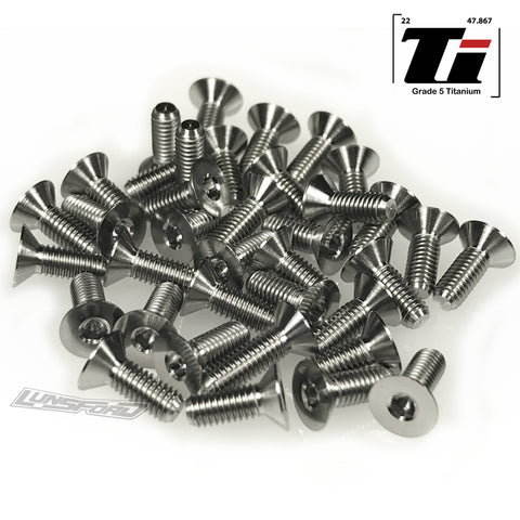 Titanium Screw Bottom Kit for Team Associated RC10B74 (39pcs)