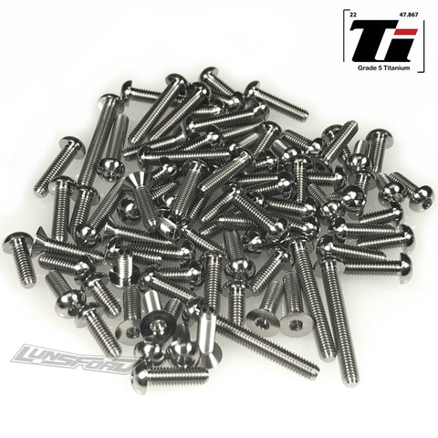 Titanium Screw Top Kit for Team Associated RC10B74 (94pcs)