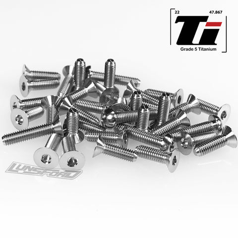 Titanium Screw Bottom Kit for XRay XT4 2019 (36pcs)