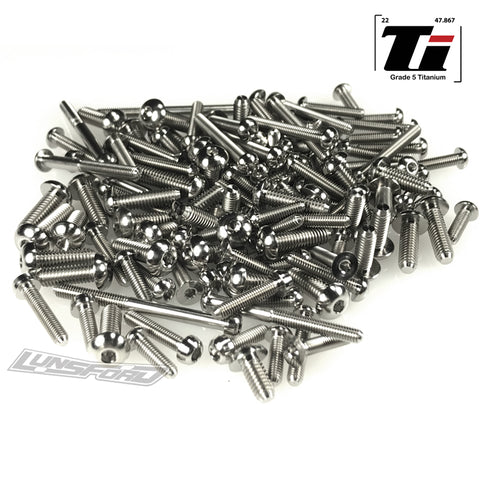 Titanium Screw Complete Kit for Traxxas E-Revo VXL Brushless Model 86086-4 (130pcs)