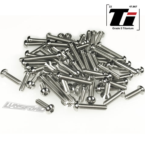 Titanium Screw Top Kit for Yokomo YZ-2 DTM 3 (75pcs)