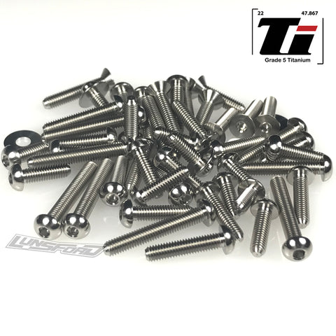 Titanium Screw Top Kit for Schumacher Cougar Laydown (52pcs)