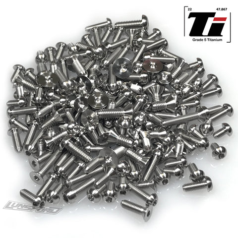 Titanium Screw Complete Kit for Serpent Viper 989 (186pcs)