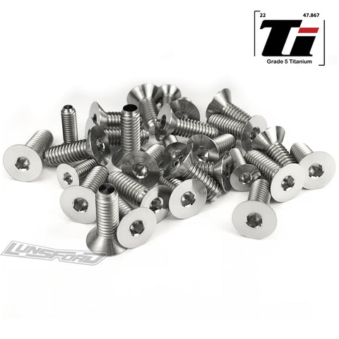 Titanium Screw Bottom Kit for Tekno NB-48 2.0 (28pcs)