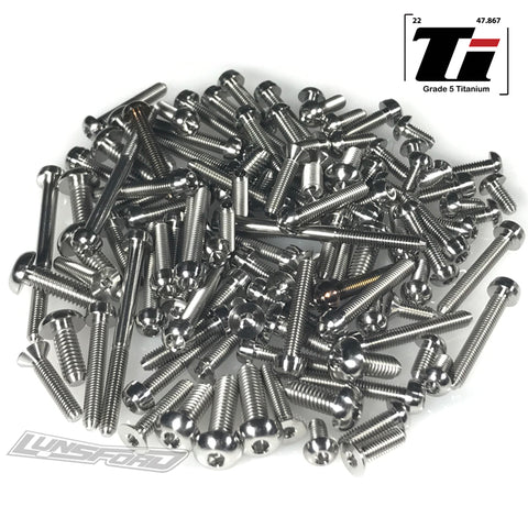 Titanium Screw Top Kit for Tekno NB48 2.0 (112pcs)