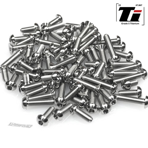 Titanium Screw Top Kit for TLR 22X-4 (81pcs)
