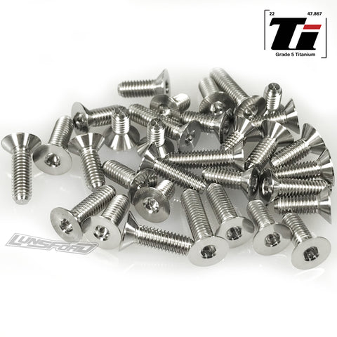 Titanium Screw Bottom Kit for Schumacher Cat L1 Evo (33pcs)