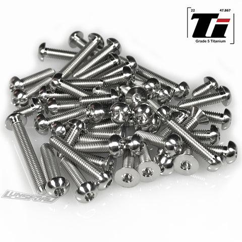 Titanium Screw Top Kit for Team Associated RC10B6.2 / RC10B6.2D (71pcs)