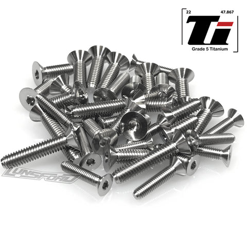 Titanium Screw Bottom Kit for Tekno EB48 2.0 (38pcs)