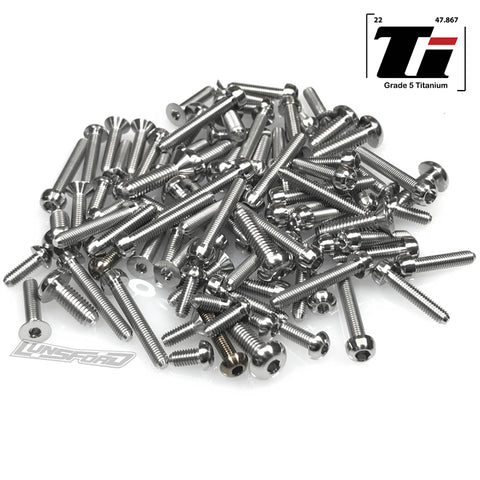 Titanium Screw Top Kit for Tekno EB48 2.0 (93pcs)