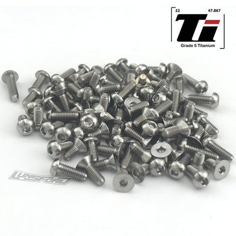 Titanium Screw Complete Kit for Tamiya TRF420 (108pcs)