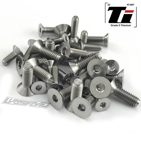 Titanium Screw Bottom Kit for TLR 8ight-XTE (36pcs)