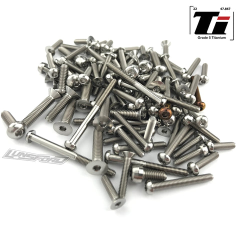 Titanium Screw Top Kit for TLR 8ight-XTE (102pcs)
