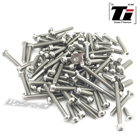 Titanium Screw Top Kit for Arrma Felony 6S (102pcs)