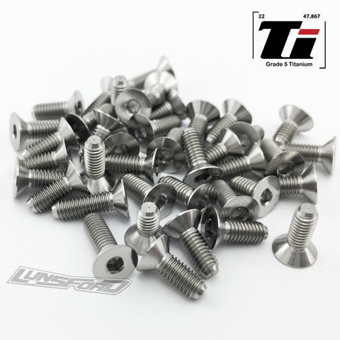 Titanium Screw Bottom Kit for Team Associated RC10B74.1 / RC10B74.1D (40pcs)