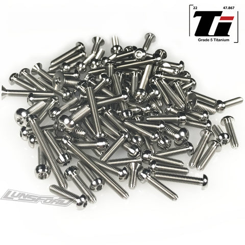 Titanium Screw Top Kit for Arrma Kraton, Notorious, Outcast (105pcs)