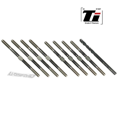 3.5mm SUPER DUTY Titanium Turnbuckle Kit for Team Associated RC10B6/B6D