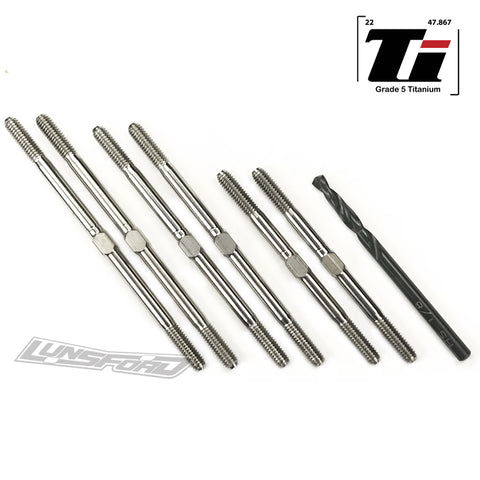 3.5mm SUPER DUTY Titanium Turnbuckle Kit for Team Associated RC10T6.1 / RC10T6.2 / RC10SC6.1 / RC10SC6.2