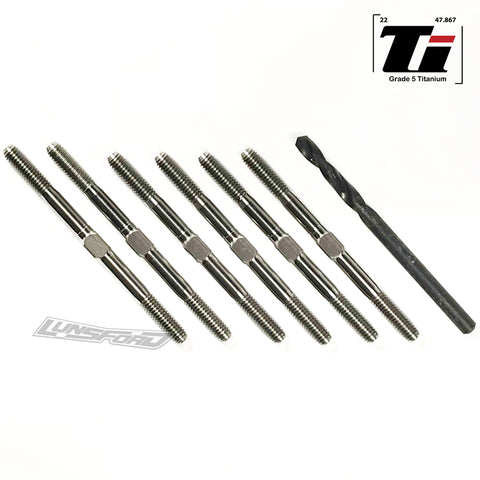 3.5mm SUPER DUTY Titanium Turnbuckle Kit for Team Associated RC10B6.1/6.1D