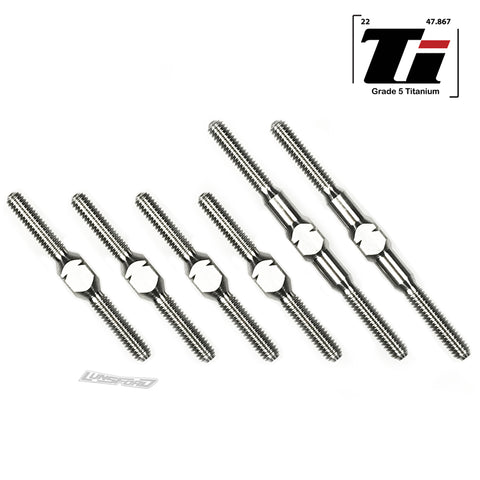 2.5mm Titanium Turnbuckle Kit for Losi Mini-T 2.0 / Mini-B