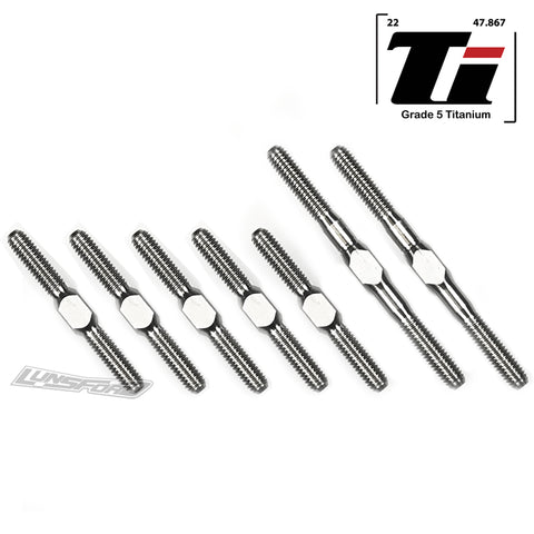 3mm PUNISHER Titanium Turnbuckles for Xray T4 2018 2019 2020