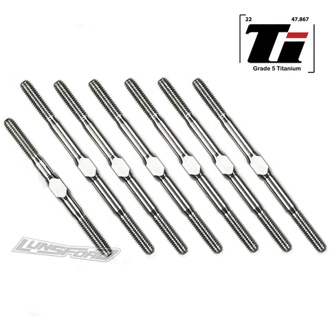 3mm PUNISHER Titanium Turnbuckles for LC Racing LC10 B5