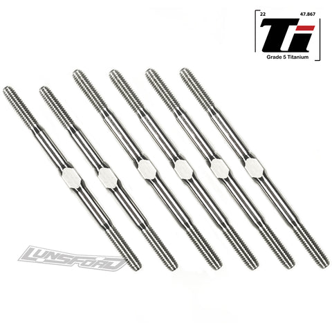 3mm PUNISHER Titanium Turnbuckles for Schumacher Cat L1 Evo