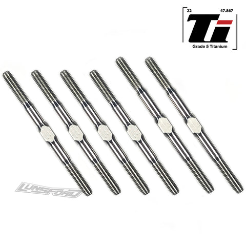 3mm PUNISHER Titanium Turnbuckles for Team Associated RC10B6.2D