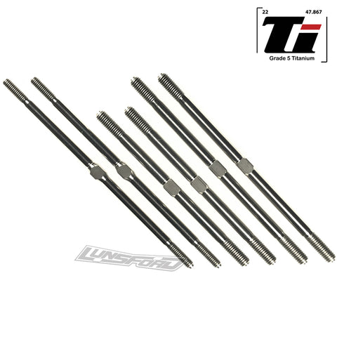 4mm / 5mm Titanium Turnbuckle Kit for Tekno ET-48.3 / MT410