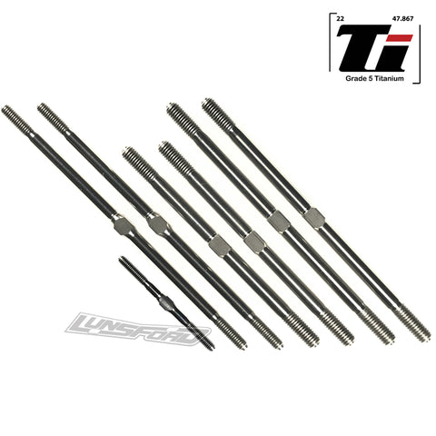 3mm / 4mm / 5mm Titanium Turnbuckle Kit for Tekno NT-48.3