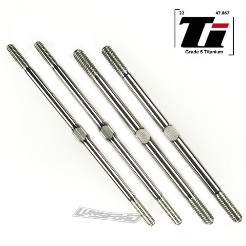 4mm / 5mm Titanium Turnbuckle Kit for ARRMA Talion, Kraton, Notorious, Outcast