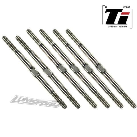 3mm PUNISHER Titanium Turnbuckle Kit for Xray XB2C / XB2D '17/'18/'19