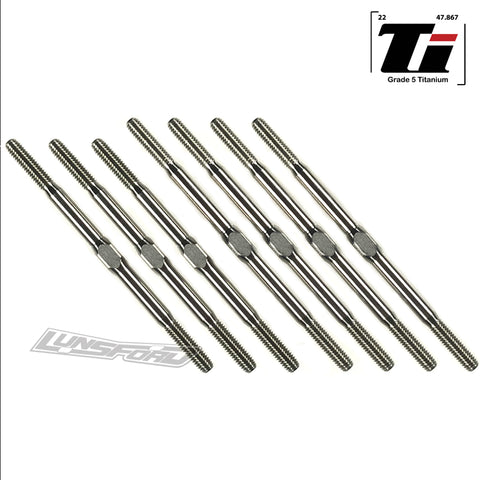3mm PUNISHER Titanium Turnbuckle Kit for Xray XB4 '17/'18