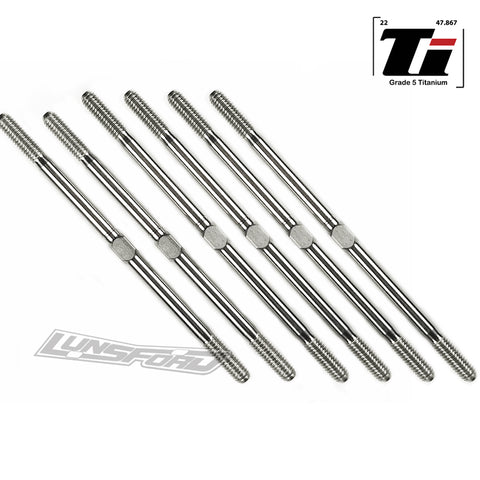 3.5mm SUPER DUTY Titanium Turnbuckle Kit for Xray XT2 '17/'18/'19
