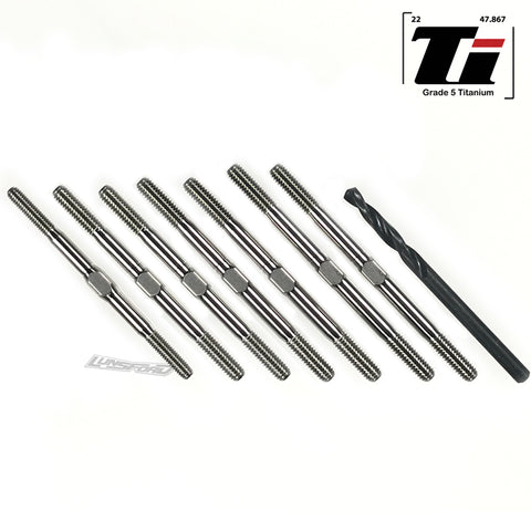 3.5mm SUPER DUTY Titanium Turnbuckles for Xray XB4 2019