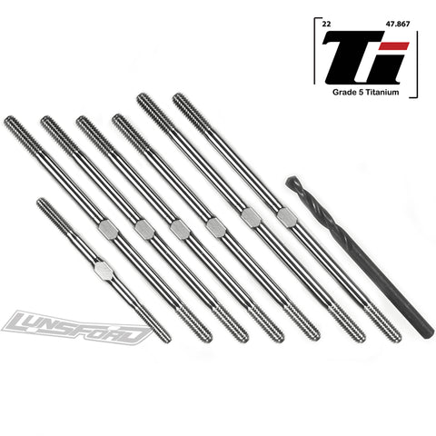 3.5mm SUPER DUTY Titanium Turnbuckles for Xray XT4 2019