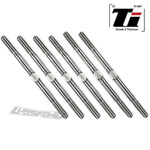 3mm PUNISHER Titanium Turnbuckles for XRay XB2C / XB2D 2020 / 2021