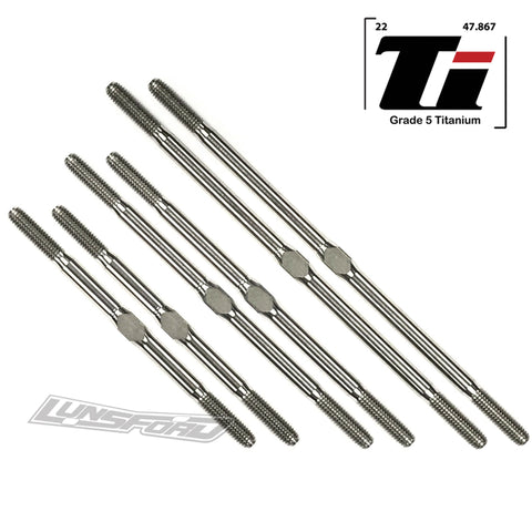 3mm PUNISHER Titanium Turnbuckles for TRAXXAS® Stampede 2wd