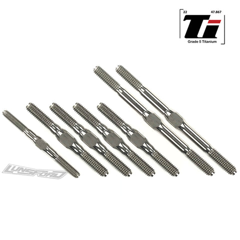 3mm / 4mm / 5mm Titanium Turnbuckle Kit for XRay XB8 2019