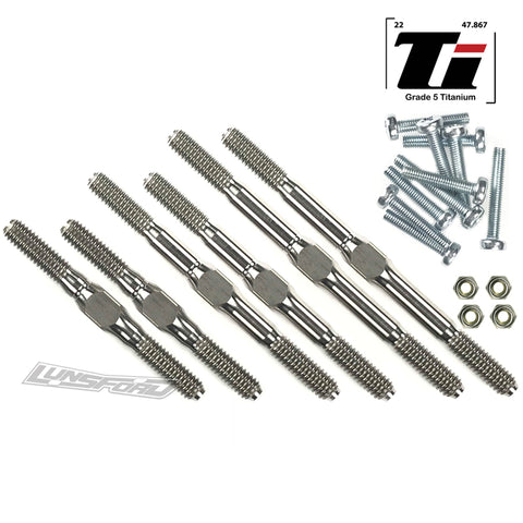 4mm Titanium Turnbuckle Kit fits TRAXXAS® Stampede 2wd All