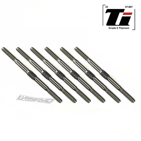 3mm PUNISHER Titanium Turnbuckle Kit for Serpent Spyder SRX2 MHT