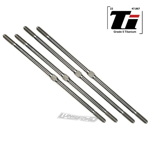 4mm Titanium Turnbuckle Kit for TRAXXAS® T-MAXX 3.3