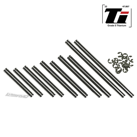 Titanium Hinge Pin Kit for Team Associated RC10 Worlds