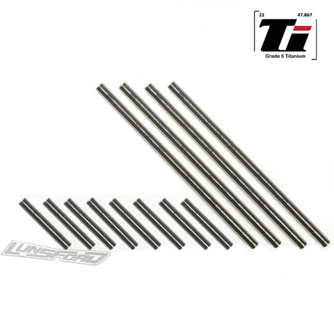 Titanium Hinge Pin Kit for TRAXXAS® 1:16 E-Revo VXL / 1:16 Slash VXL / 1:16 Summit (12)