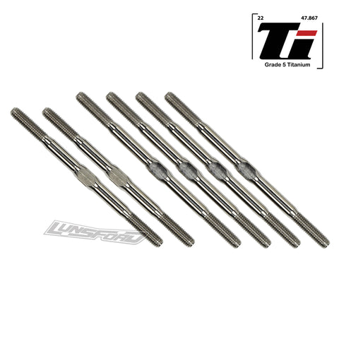 3.5mm SUPER DUTY Titanium Turnbuckle Kit for TLR 22 3.0 / 22 4.0 / 22 4.0 SR