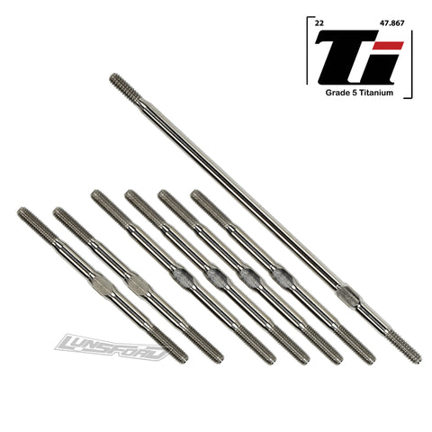 3.5mm SUPER DUTY Titanium Turnbuckle Kit for TLR 22-4 2.0