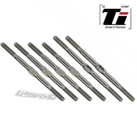 3.5mm SUPER DUTY Titanium Turnbuckle Kit for TLR 22 5.0 AC / DC / Elite / SR