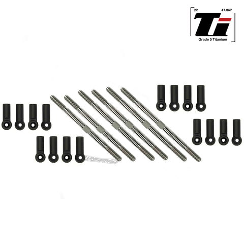 3.5mm SUPER DUTY Titanium Turnbuckle & 4.8mm Ball Cup Kit for Kyosho Lazer ZX6.6